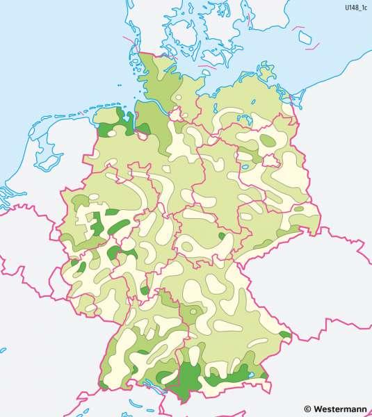 Deutschland | Flächennutzung durch Landwirtschaft | Deutschland - Landwirtschaft | Karte 41/3