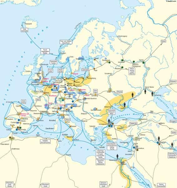 Europa und Orient | Handel und Wirtschaft im 15.Jahrhundert | Geschichte - Vom Spätmittelalter zur Frühen Neuzeit | Karte 201/3