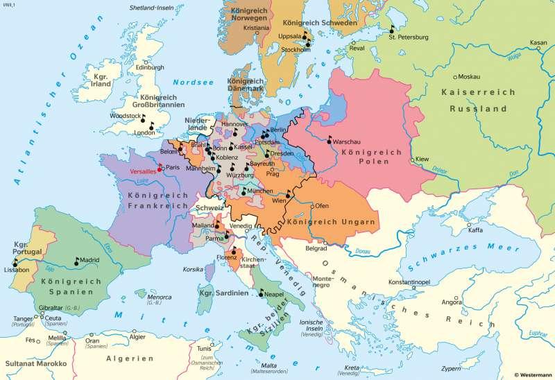 | Absolutismus in Europa | Geschichte - Vom Barock zum Napoleonischen Zeitalter | Karte 206/2