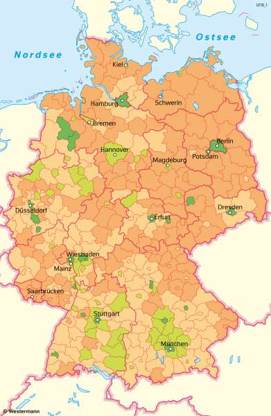 Deutschland | Geburten | Deutschland - Bevölkerung | Karte 49/4
