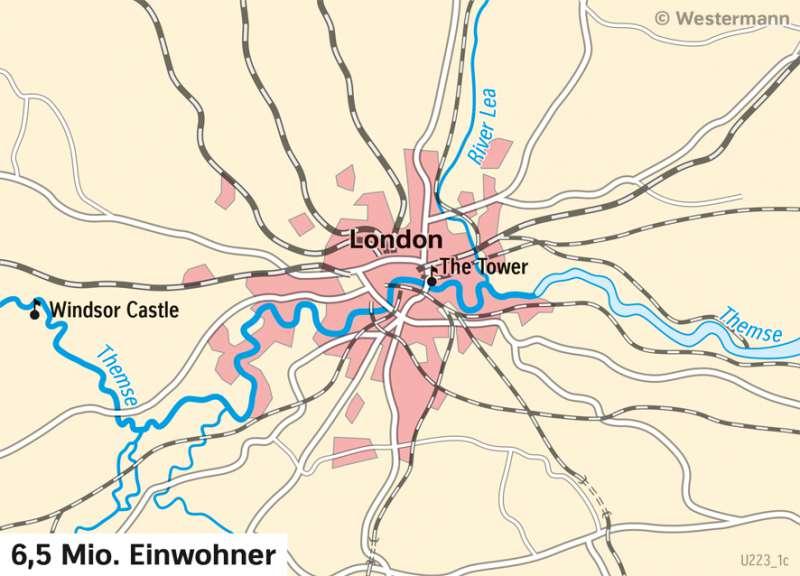 London | Stadtentwicklung | London und Paris - Städtetourismus | Karte 86/1