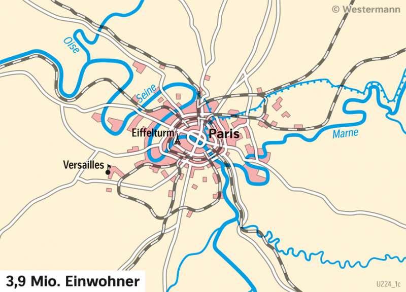 Paris | Stadtentwicklung | London und Paris - Städtetourismus | Karte 87/5