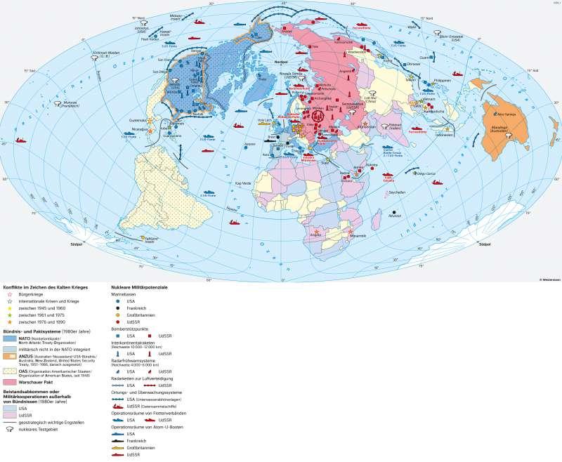 Erde | Das Zeitalter des Kalten Krieges (1949–1989) | Geschichte - Der Kalte Krieg | Karte 218/1