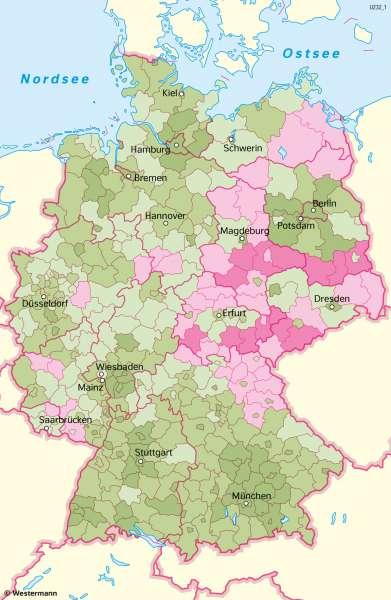 Deutschland | Bevölkerungsentwicklung | Deutschland - Bevölkerung | Karte 49/2