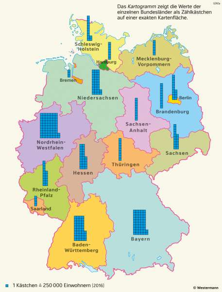 Karte Bundesländer.Diercke Weltatlas Kartenansicht Deutschland Bevölkerung Der