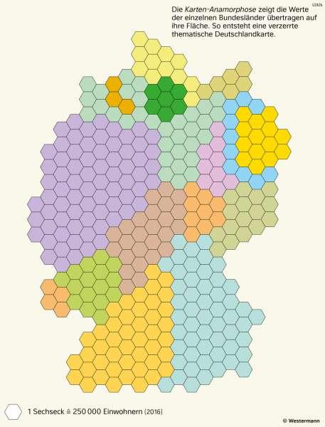 Deutschland | Bevölkerung der Bundesländer | Deutschland - Bundesländer | Karte 31/2