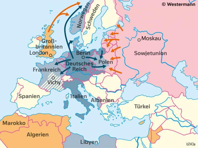 2 Weltkrieg Karte.Diercke Weltatlas Kartenansicht Europa Der Verlauf Des