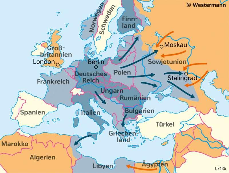 deutschland 2 weltkrieg karte Diercke Weltatlas   Kartenansicht   Europa   Der Verlauf des
