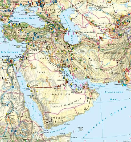 Westasien | Wirtschaft | Westasien - Wirtschaft | Karte 119/2