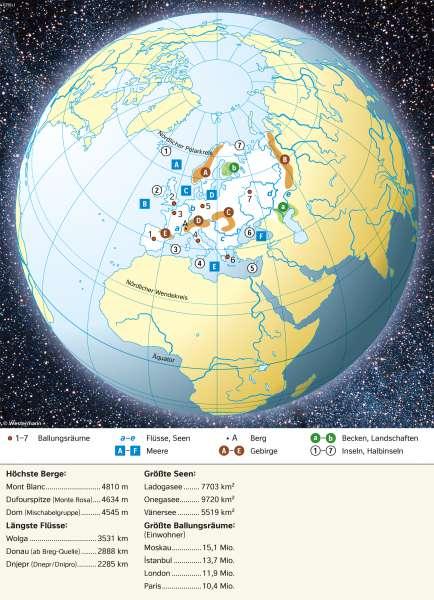 Europa | Topographie | Europa - Orientierung | Karte 58/1