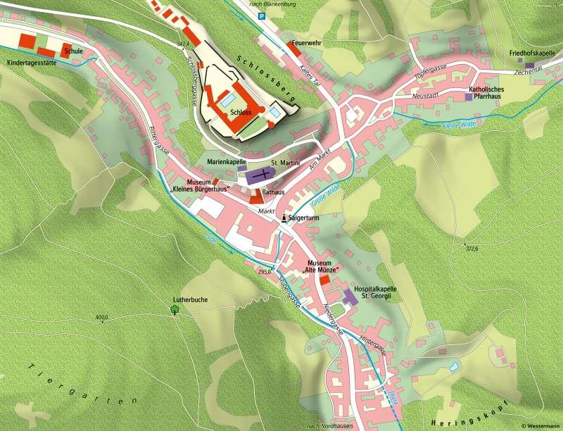 Stolberg(Harz) | Karte | Sachsen-Anhalt - Vom Bild zur Karte/Kartentypen | Karte 6/2