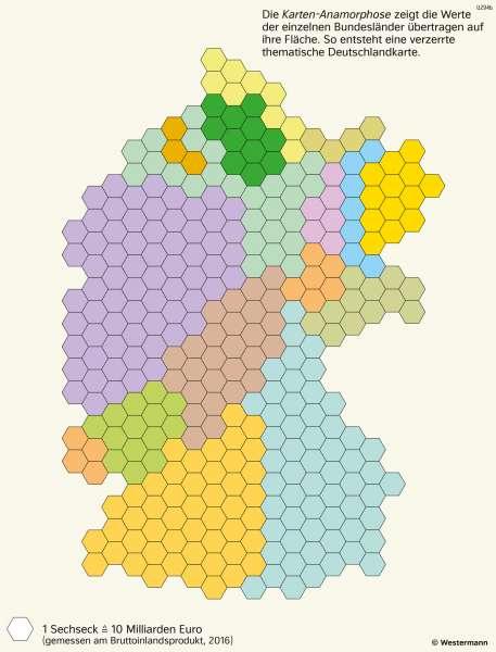 Deutschland | Wirtschaftsleistung der Bundesländer | Deutschland - Bundesländer | Karte 31/3