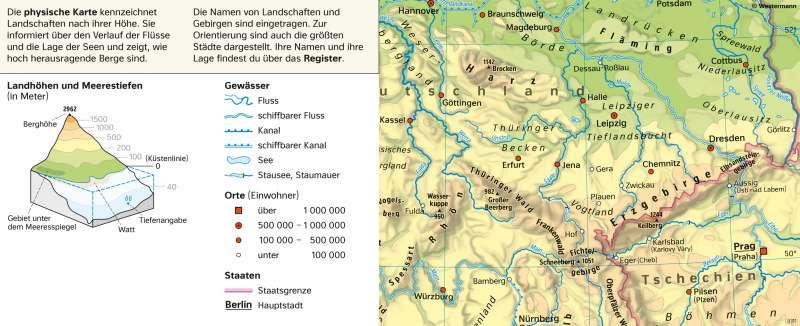 Diercke Weltatlas Kartenansicht Physische Karte Zu