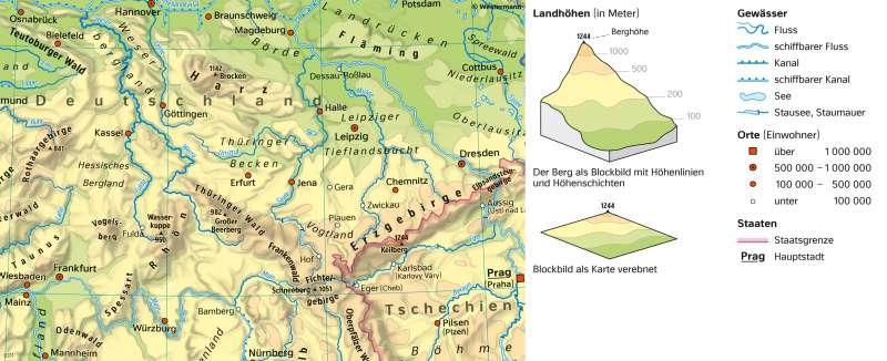 Diercke Weltatlas Kartenansicht Physische Karte 978 3 14
