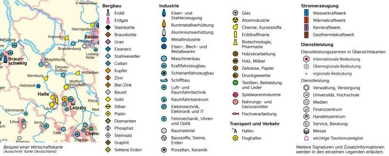   Signaturen einer Wirtschaftskarte   Sachsen-Anhalt - Vom Bild zur Karte/Kartentypen   Karte 7/5