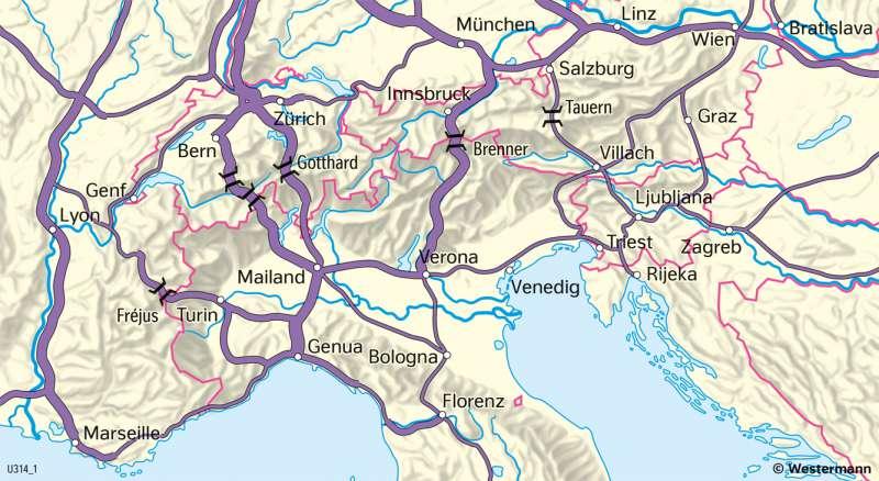 | Alpentransit | Alpen - Tourismus und Umwelt | Karte 54/2