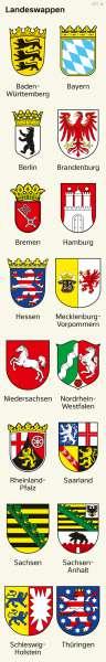 Deutschland | Landeswappen | Deutschland - Bundesländer | Karte 30/1