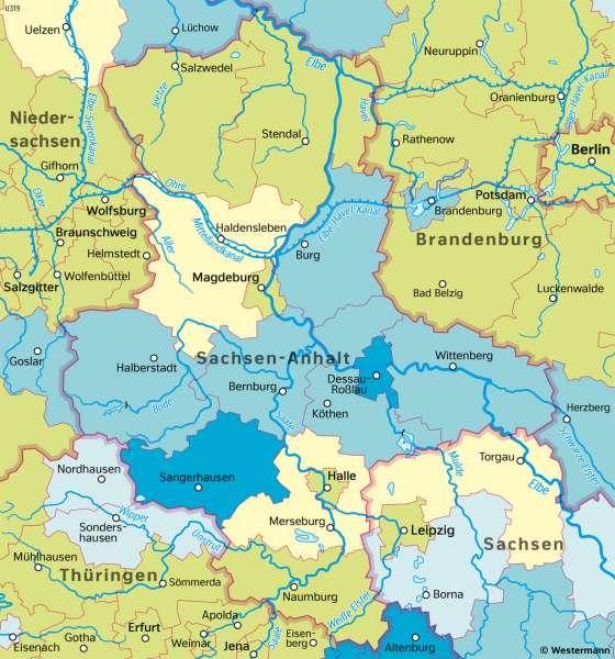 Sachsen-Anhalt | ÄltereBevölkerung | Sachsen-Anhalt - Verwaltung und Bevölkerung | Karte 29/4
