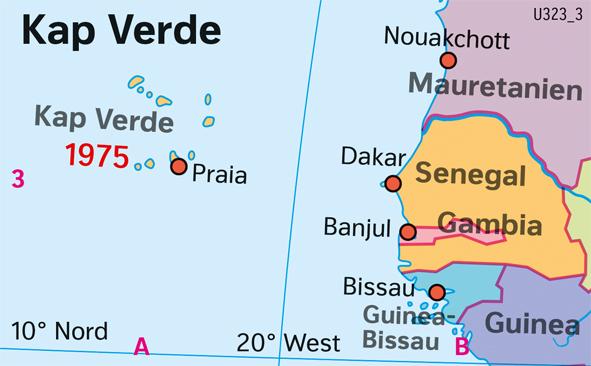 Kap Verde | Politische Übersicht | Afrika - Staaten und Bevölkerung | Karte 122/1