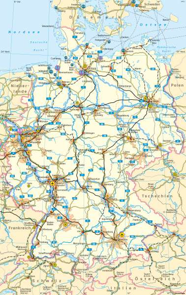 Deutschland | Verkehr | Deutschland - Verkehr | Karte 46/1