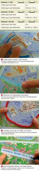 | Messen in Karten | Völklingen - Karte, Luftbild und Maßstab | Karte 11/4