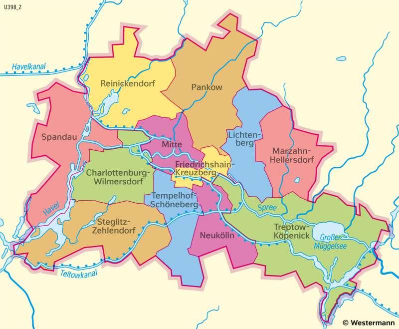Diercke Weltatlas Kartenansicht Berlin Verwaltung 978 3 14