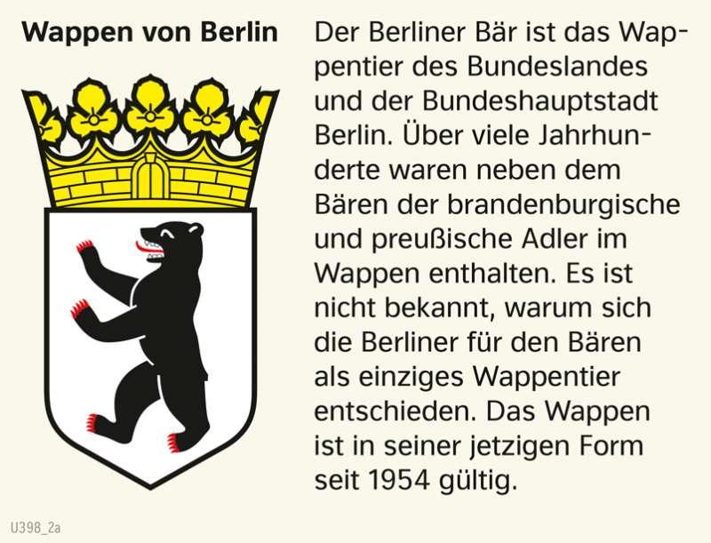 | Wappen von Berlin | Brandenburg und Berlin - Physische und politische Übersicht | Karte 13/3
