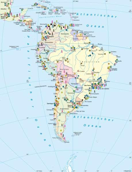 Mittel- und Südamerika | Wirtschaft (Übersicht) | Südamerika - Wirtschaft und Umwelt | Karte 162/1