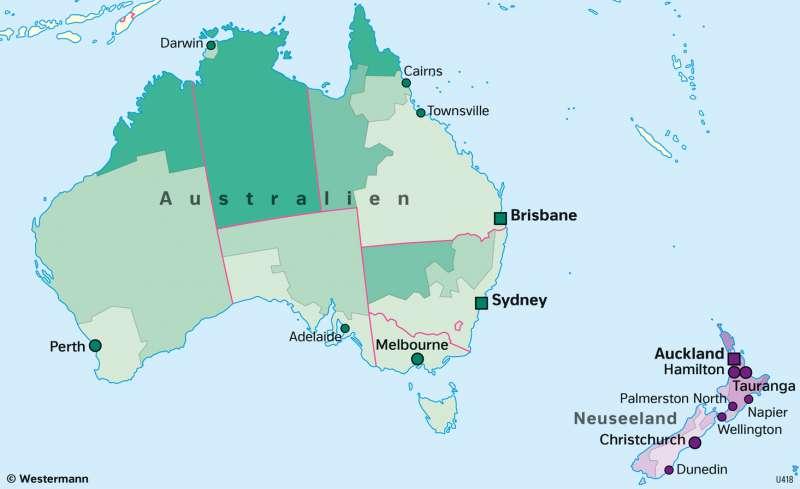 Australien und Neuseeland | Urbevölkerung | Australien und Neuseeland - Wirtschaft und Naturraum | Karte 139/5