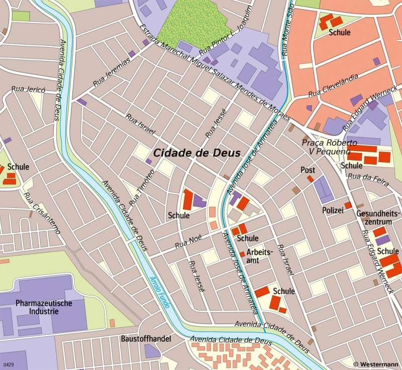 RiodeJaneiro | Wohnviertel | Südamerika - Staaten und Bevölkerung | Karte 159/4