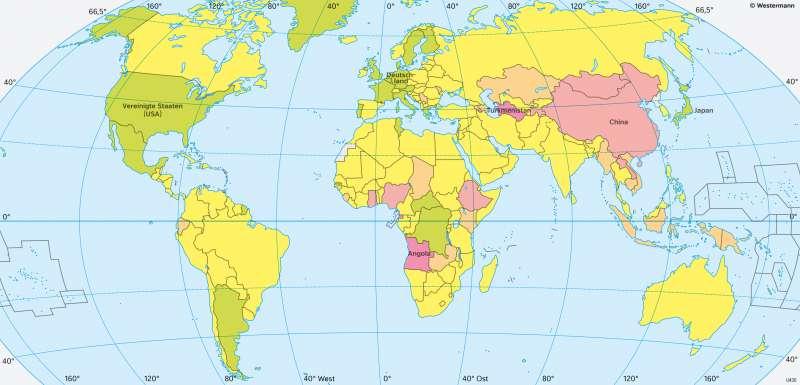 Erde | Wirtschaftsentwicklung | Erde - Weltwirtschaft | Karte 185/2