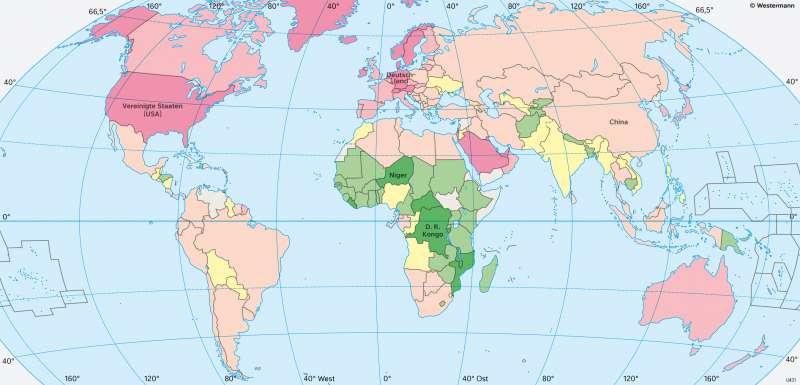 Erde | Wirtschaftsleistung | Erde - Weltwirtschaft | Karte 185/3