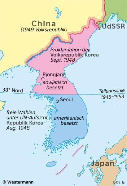 | Der Koreakrieg (1950–1953) – ein Stellvertreterkrieg | Geschichte - Der Kalte Krieg | Karte 218/2