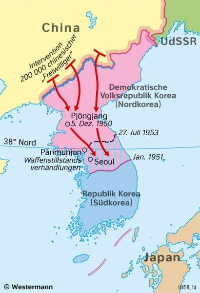 | Der Koreakrieg (1950–1953) – ein Stellvertreterkrieg | Geschichte - Der Kalte Krieg | Karte 219/2