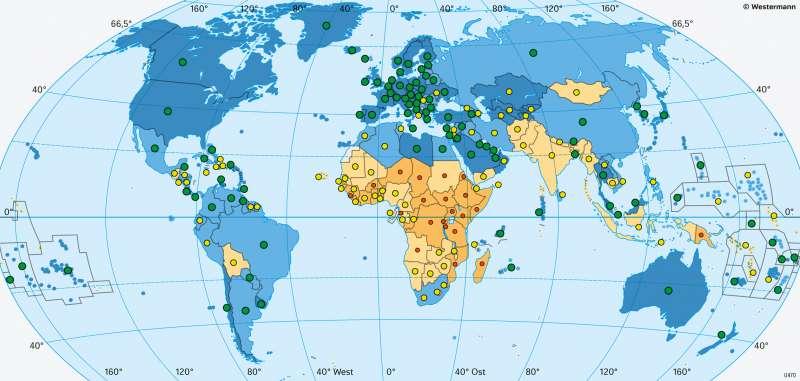 Erde | Wasserversorgung | Erde - Lebensbedingungen | Karte 181/5