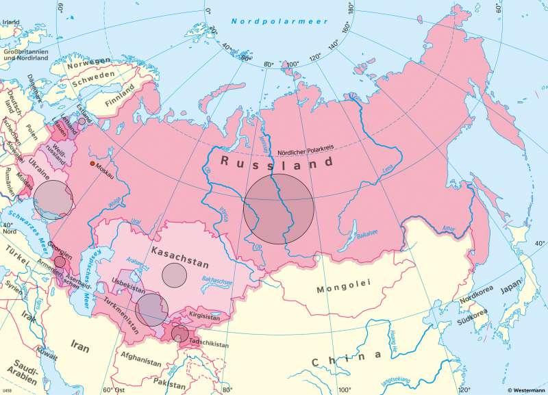 VielvölkerstaatSowjetunion | Auflösung durch Staatszerfall 1990/1991 | Geschichte - Europa nach dem Kalten Krieg | Karte 221/4