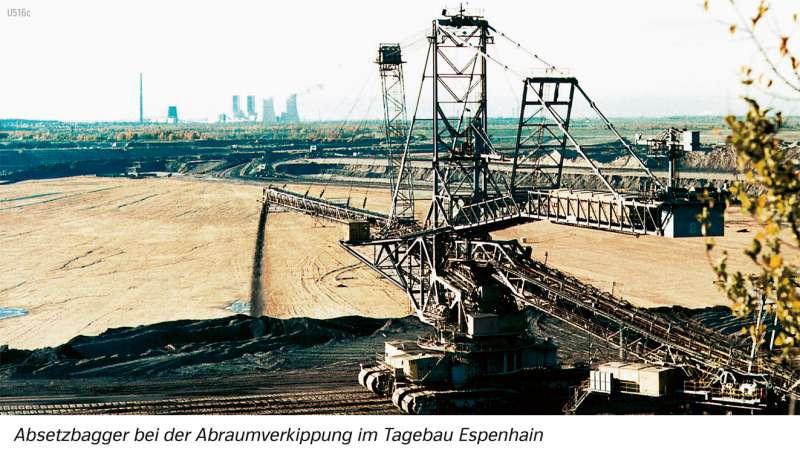   Absetzbagger bei der Abraumverkippung im Tagebau Espenhain   Südraum Leipzig - Den Wandel von Räumen beschreiben   Karte 28/3