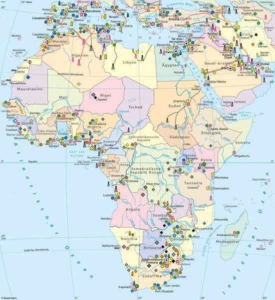 Afrika | Wirtschaft (Übersicht) | Afrika - Wirtschaft | Karte 128/1