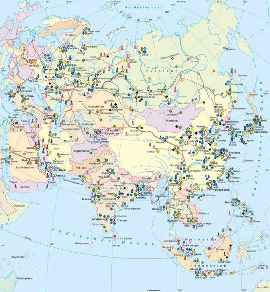 Asien | Wirtschaft (Übersicht) | Asien - Wirtschaft | Karte 104/2