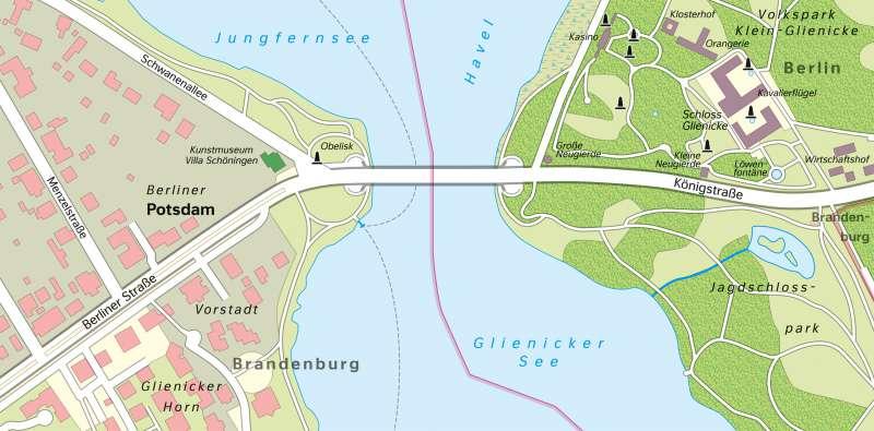 GlienickerBrücke | Karte | Glienicker Brücke - Vom Bild zur Karte und Kartentypen | Karte 6/3