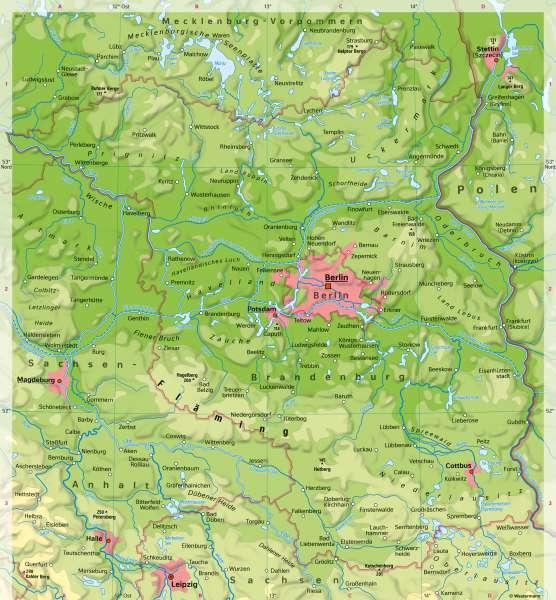 politische karte brandenburg Diercke Weltatlas   Kartenansicht   Brandenburg und Berlin