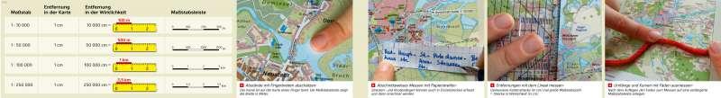 | Maßstab und Entfernungen | Brandenburg an der Havel - Maßstab | Karte 8/2