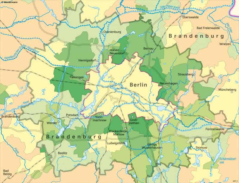 Berlin und seinUmland | Bevölkerungsentwicklung1991–2017 | Berlin und sein Umland - Bevölkerung | Karte 28/1