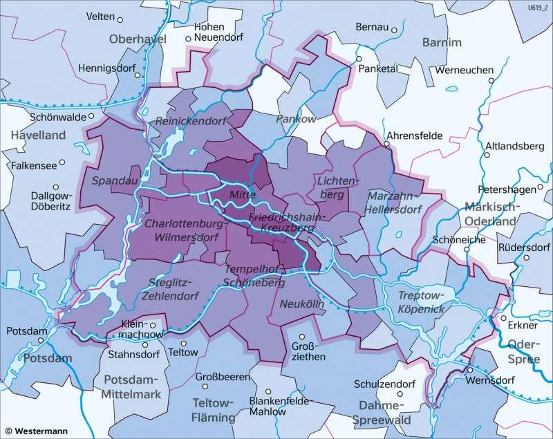 Berlin und seinUmland | AusländischeBevölkerung | Berlin und sein Umland - Bevölkerung | Karte 29/4