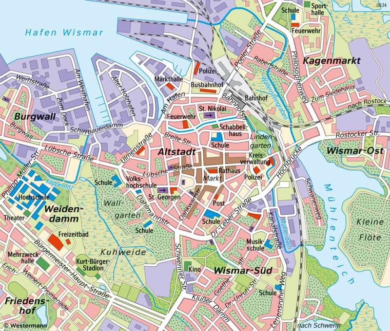 | Unterschiedliche Maßstäbe am Beispiel von Wismar | Wismar - Vom Bild zur Karte/Maßstab und Entfernungen | Karte 11/4