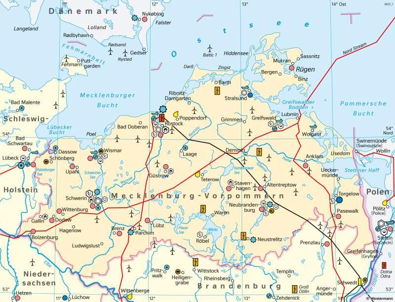 Diercke Weltatlas Kartenansicht Mecklenburg Vorpommern