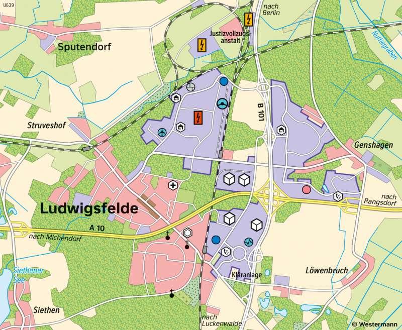 Ludwigsfelde | Wirtschaft | Brandenburg und Berlin - Wirtschaft | Karte 21/4