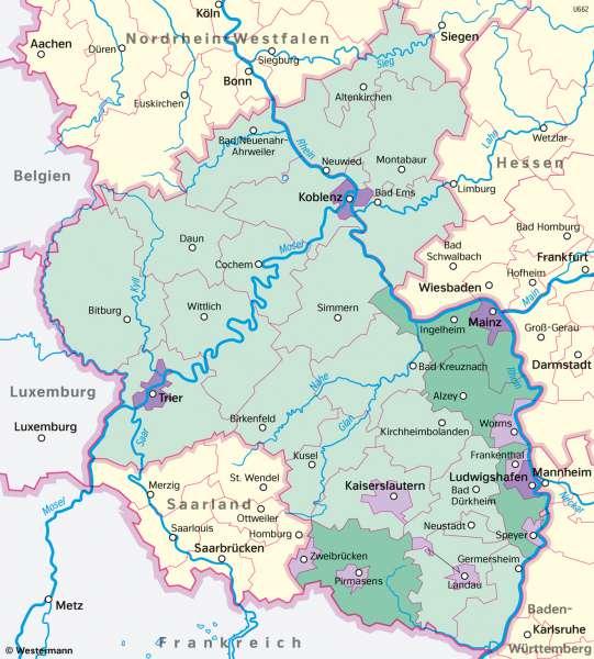 Rheinland-Pfalz   Berufspendler   Rheinland-Pfalz - Wirtschaft und Verkehr   Karte 23/3