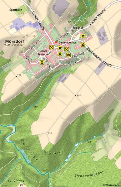Mörsdorf (Hunsrück) | Tourismusprojekt Geierlay-Hängeseilbrücke | Mörsdorf (Hunsrück) - Tourismus und Naturschutz | Karte 17/2