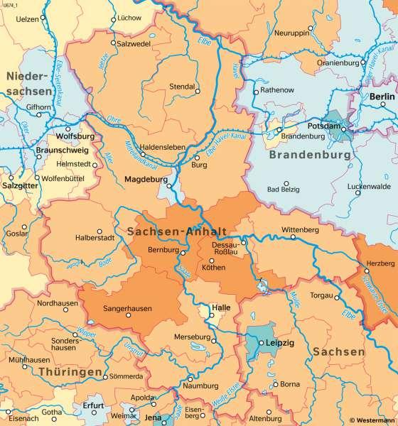 Sachsen-Anhalt   Bevölkerungsentwicklung   Sachsen-Anhalt - Verwaltung und Bevölkerung   Karte 29/3